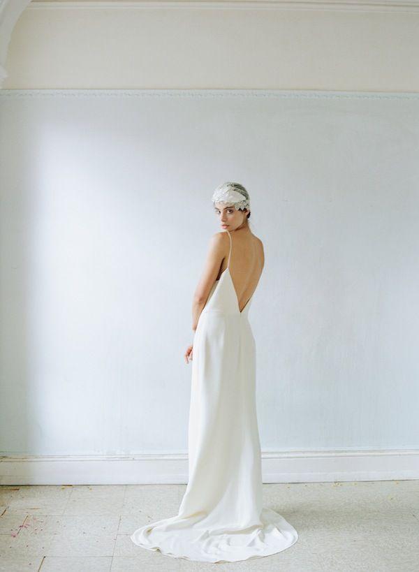 Alexandra Grecco Maia Slip Gown. Photo - Elizabeth Messina