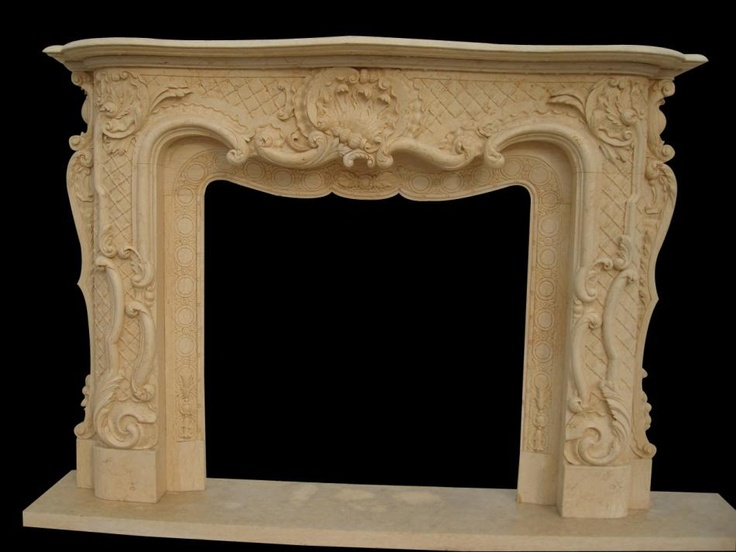 carved fireplace would look great with upper are to