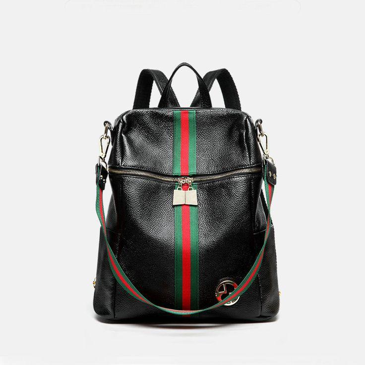 Bandolera mochilas de elegantes para mujeres Bolsos de viaje moda negro [VL10617] - €63.21 : bzbolsos.com, comprar bolsos online