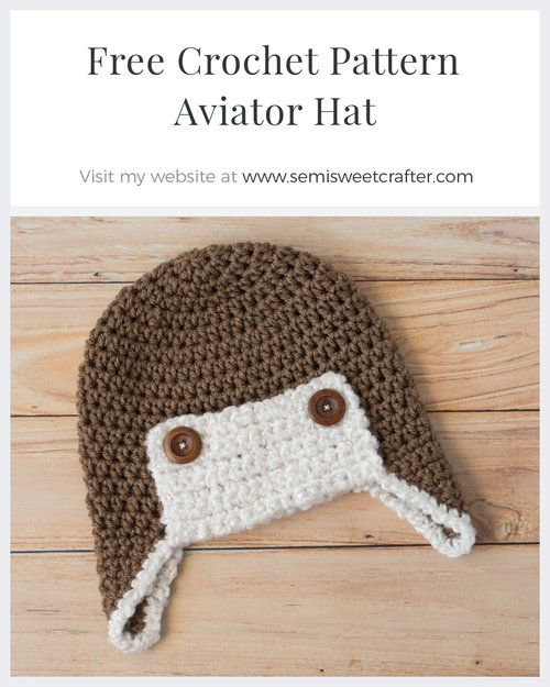 d19d30f6041 Free Crochet Aviator Hat Pattern