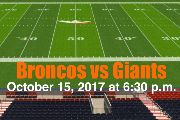 Win TWO Denver Broncos vs NY Giants 50 Yard Line Club Level Tickets!  10-15-17 #DenverBroncos #BroncosTicketsRaffle #Charity