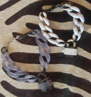 diana broussard padlock necklaces