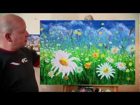 ▶ The Daisy Field acrylic painting by Steve Buchanan - YouTube