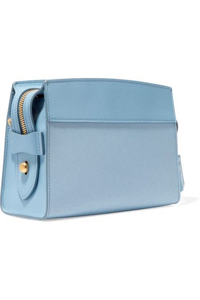 Powder-blue smooth and textured-leather (Calf) Zip fastening along top Designer color: Marine Weighs approximately 1.5lbs/ 0.7kg Made in Italy