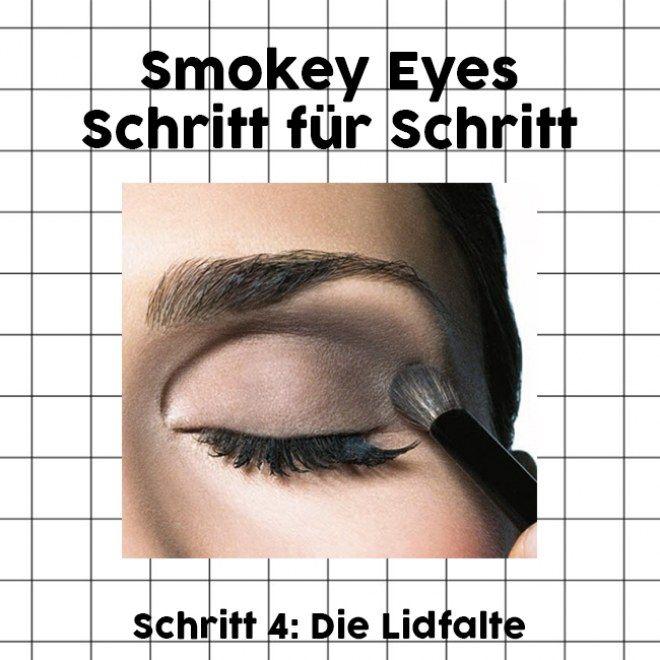 Smokey Eyes Schritt für Schritt: Die Lidfalten