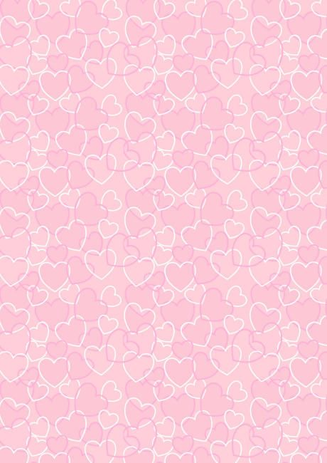 Valentine Heart Background | Valentine's Day scrapbook paper - pink heart background