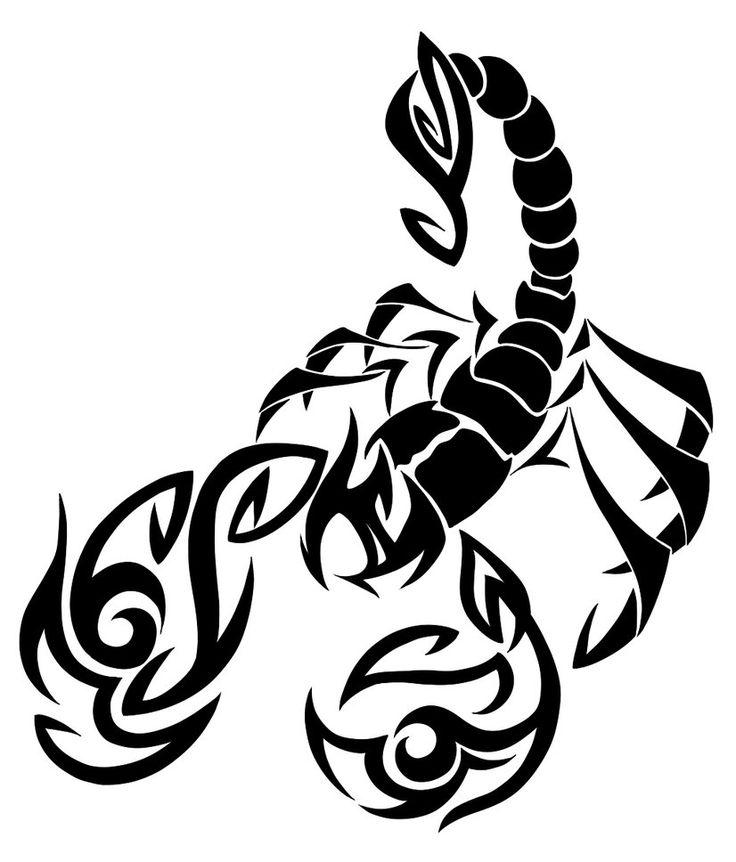 можно картинки черно белые тату скорпиона такой особенный