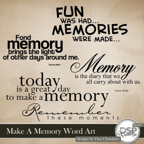 Make A Memory Word Art