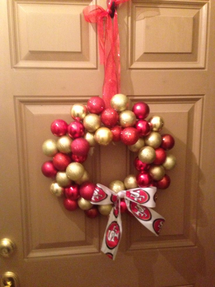 Just made this 49er wreath