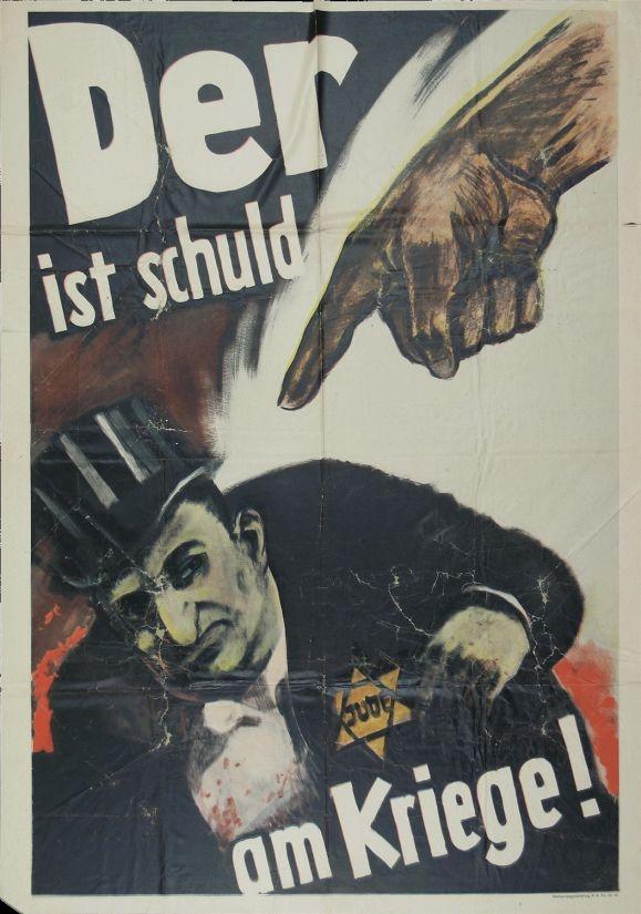 Der ist Schuld am Kriege! (Kriegsplakate der Reichspropagandaabteilung der NSDAP): War Poster, Propaganda Poster, Nazi Propaganda, Nazi Germany, Wwii Propaganda, Holocaust History, Germany Wwii, German Propaganda, Blame