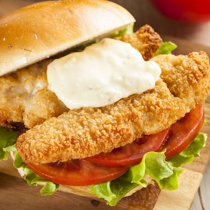 This breaded fish sandwich recipe is baked, has a crispy coating and would be great outside or inside the sandwich.. Breaded Fish Sandwich  Recipe from Grandmothers Kitchen.