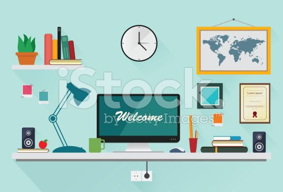 stock-illustration-62299554-office-desktop-flat-design.jpg (556×377)
