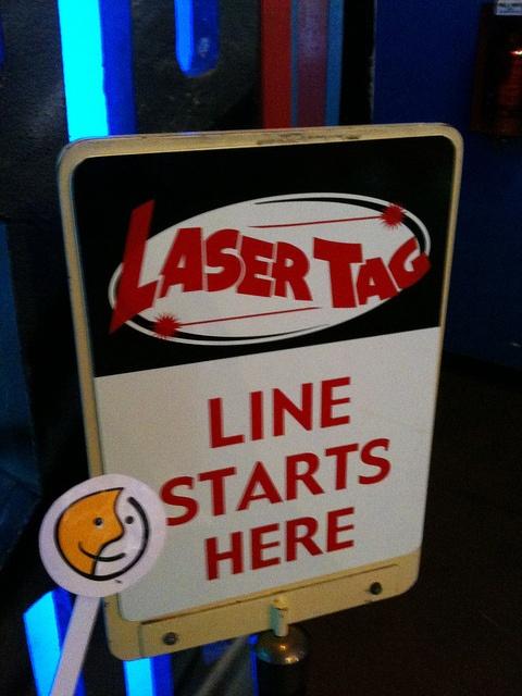 Swipping Laser Tag sign, Milton Real Estate agent, Katherine Barnett, broker