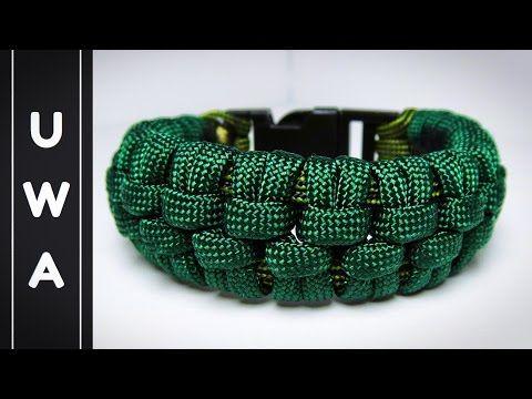 How to make The Crocodile Paracord Bracelet [UWA ORIGINAL] - YouTube