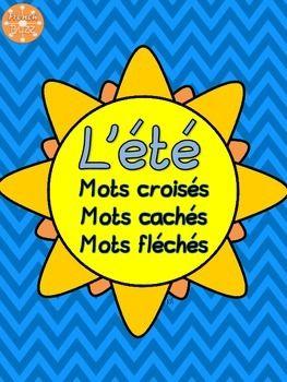 L'été - mots croisés, mots cachés, mots fléchés sur le vocabulaire.