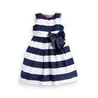 Girls new in 2014 flower stripe dress for weddings roupa de bebe /vestidos festa infantil saias femininas retail free shipping