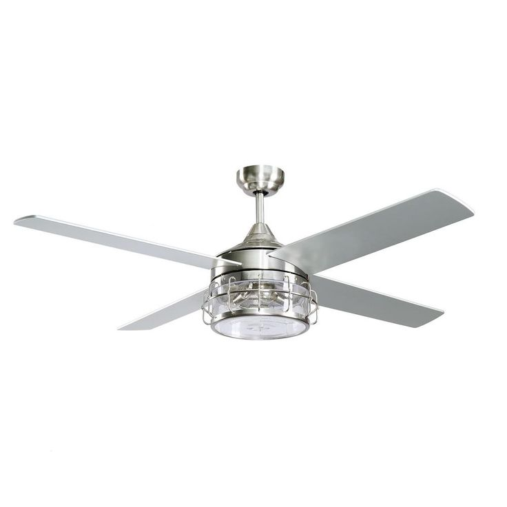 Parrot Uncle Kavir 52 In Indoor Chrome Downrod Mount Industry Chandelier Ceiling Fan With Light And Remote Control F6225110v The Home Depot In 2020 Ceiling Fan With Light Ceiling Fan Ceiling Fan Chandelier