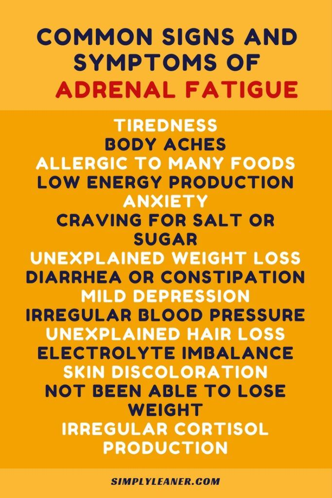 Signs And Symptoms Of Adrenal Fatigue