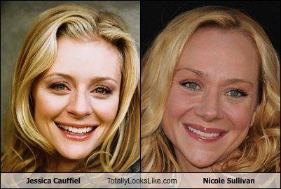 Jessica Cauffiel totally looks like Nicole Sullivan