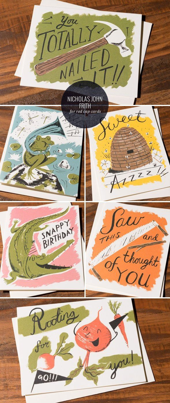Nicholas John Frith Greeting Cards for Red Cap Cards