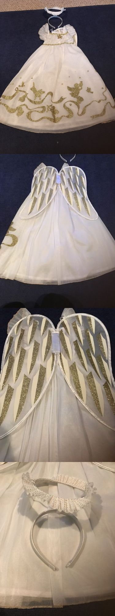 Kids Costumes: Toddler Girls Angel Costume Christmas 3/4 BUY IT NOW ONLY: $35.0