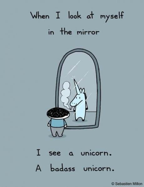 badass ;): I Am Awesome, Positive Affirmations, Hells Yeah, Unicorn Humor, So True, Badass Unicorns, So Funny, True Stories, The Originals