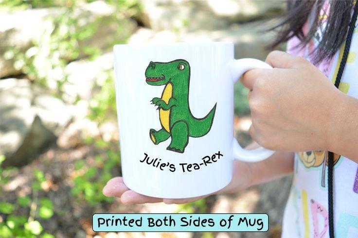 Tea Rex Mug,Cute T-Rex Mug,funny mug,coffee lovers gifts,tea mug,gift for him,gift for her,housewarming gift,funny gifts,t-rex,custom mug by HotTouch on Etsy