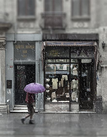 Istanbul underwear shop in the snow by Lost Parables, via Flickr
