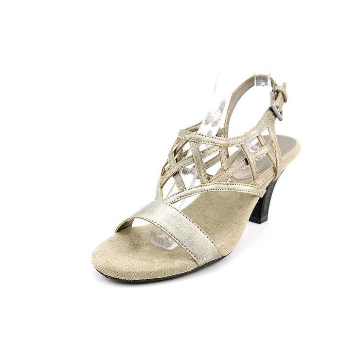 Aerosoles Aerosoles Faxation Womens Size 6.5 Silver Dress Sandals Pre-owned #Aerosoles #Strappy