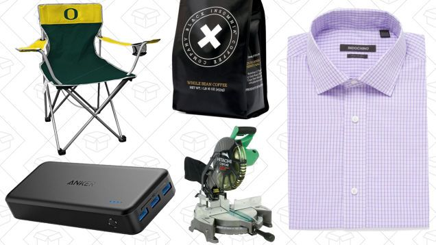 Todays Best Deals: Hyper-Caffeinated Coffee Custom-Fit Shirts NCAA Tailgating Chairs and More