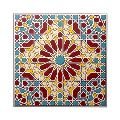 Moorish Tile. Traditional colorful moorish pattern $19.15