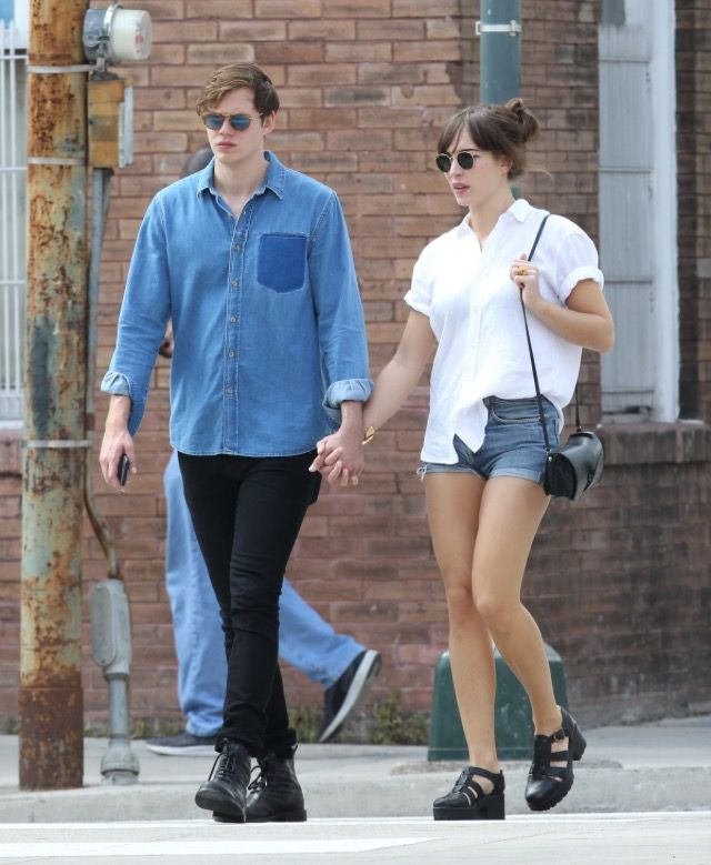 Bill out and about in New Orleans with girlfriend Alida Morberg.