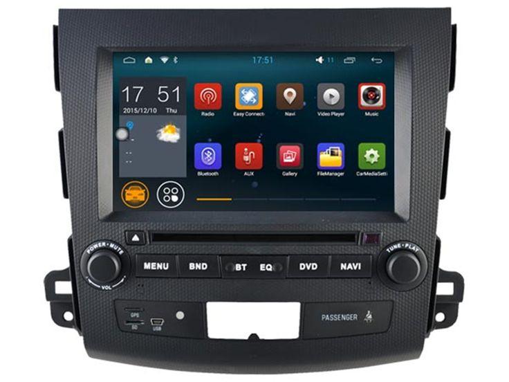 Quad Core 1024*600 Android 4.4 For Mitsubishi OUTLANDER 2006 2007 2008 2009 2010 2011 2012 Car DVD Player GPS Navigation Radio