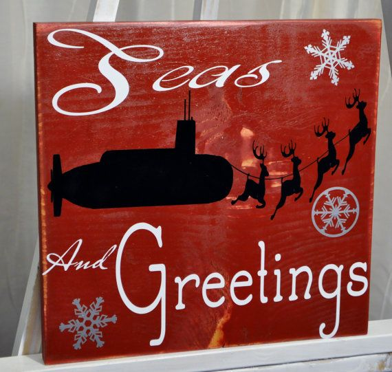 Seas and Greetings. Us Navy Submarine by BeachBettyDesigns on Etsy