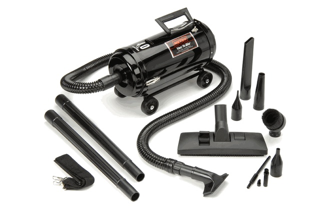 To get the sand out of the car-  Metro Vac N'Blo® Portable Vacuum