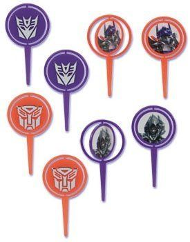 Transformers Movie Spinning Cupcake Picks 12 Pack by DecoPac. $4.50