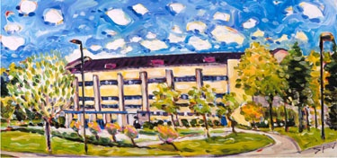 Allen Field House ,painting by Mike Savage