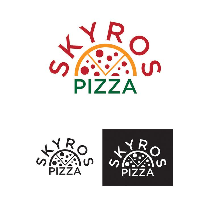 Skyros Pizza - Logo & Menu Design #pizzalogo #logo #logodesign #menudesign #takeoutmenu #mainmenu #pizzamenu #pizza #graphicdesign #branding