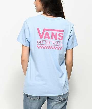 25b06ba506 Vans OTW Light Blue   Pink T-Shirt