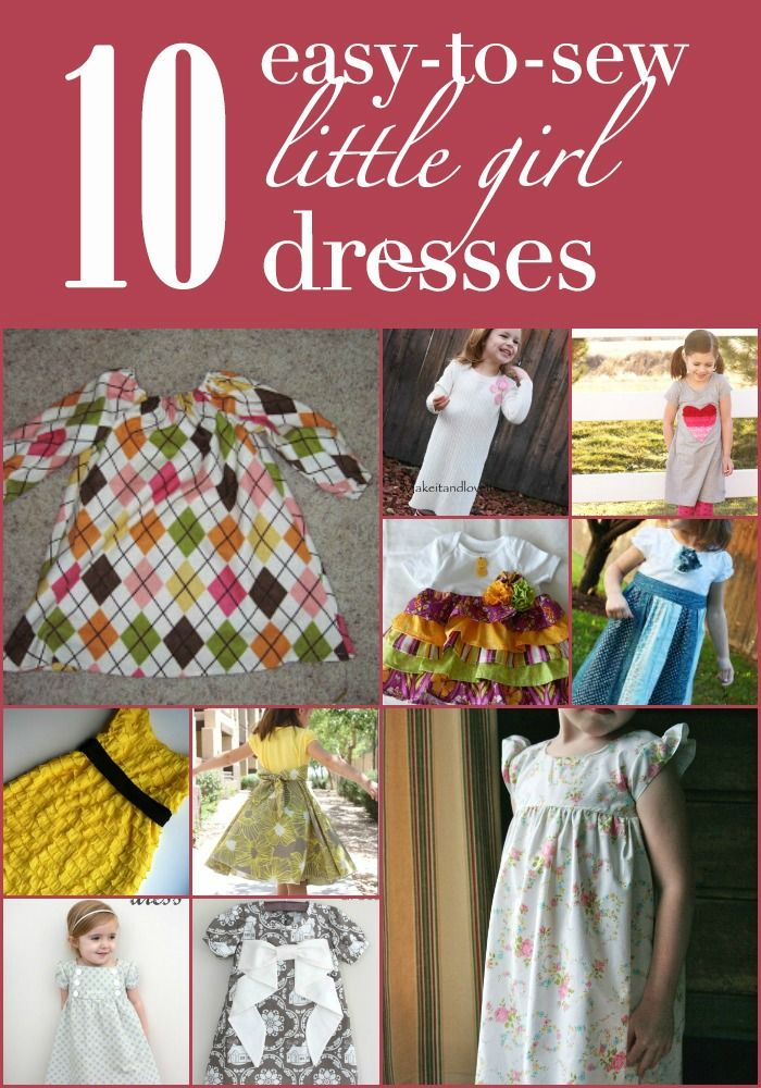 10 easy-to-sew little girl dresses --> MY DREAM is to do this. thanks, @Jessica Turner