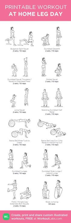 12 At Home Leg Day Workout for Women. The following leg day workout routine is…