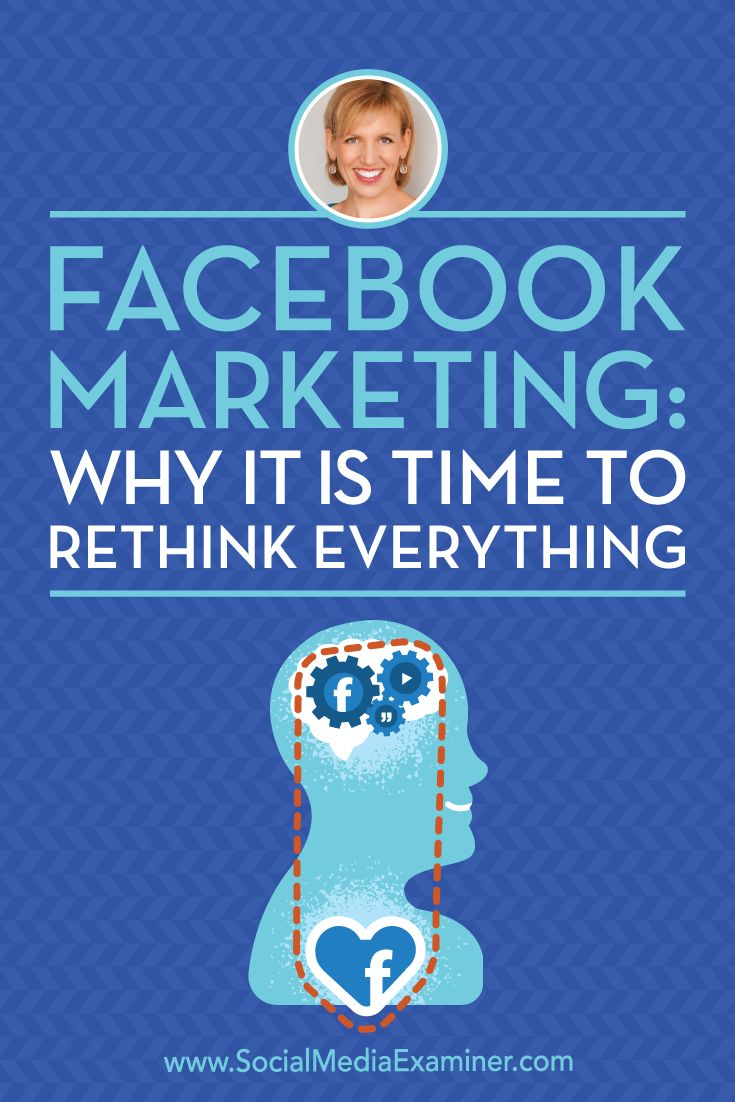 Facebook Marketing: Why It Is Time to Rethink Everything featuring insights from Guest on the Social Media Marketing Podcast.
