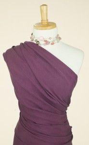 Soft boysenberry purple cupro fabric