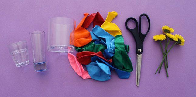 DIY Basics: Balloon Bud Vases via Brit + Co