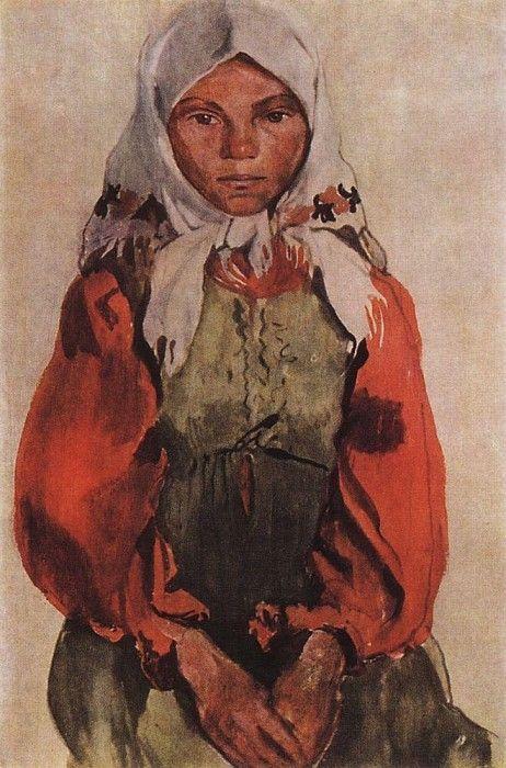 Деревенская девушка. Зинаида Евгеньевна Серебрякова