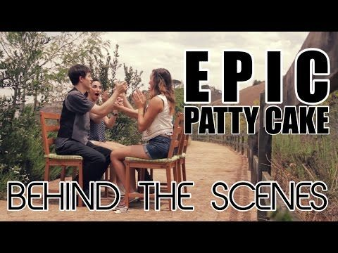 ▶ Epic Patty Cake Song - BEHIND THE SCENES - YouTube (teaching clapping pattern at 2:30