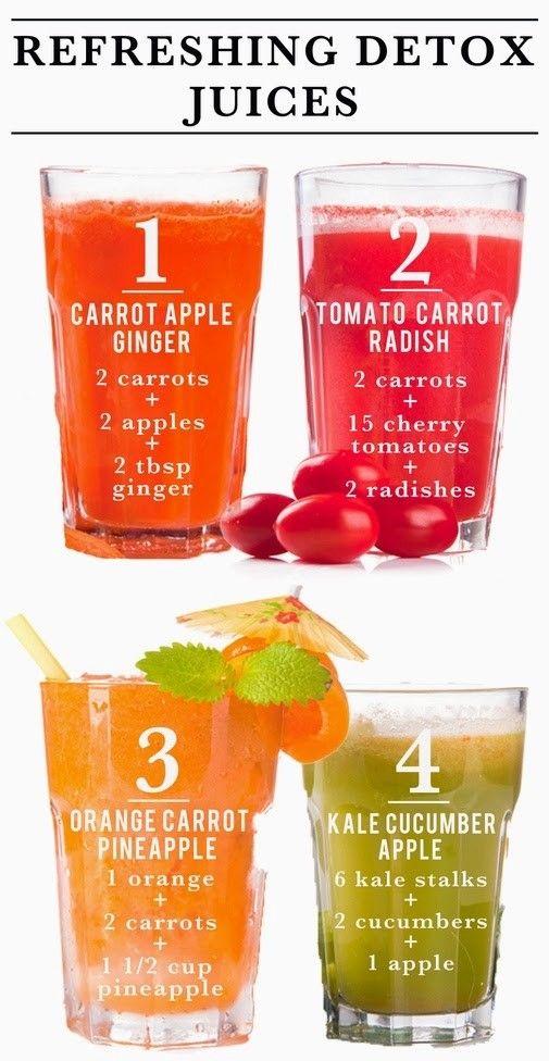 Освежающие и очищающие соки.   Попробуйте эти супер быстрые и легкие рецепты сока. Просто смешайте все ингредиенты в соковыжималке или блендере. Приятного аппетита!    #detoxjuices #очищениесоками #фреш #здоровье