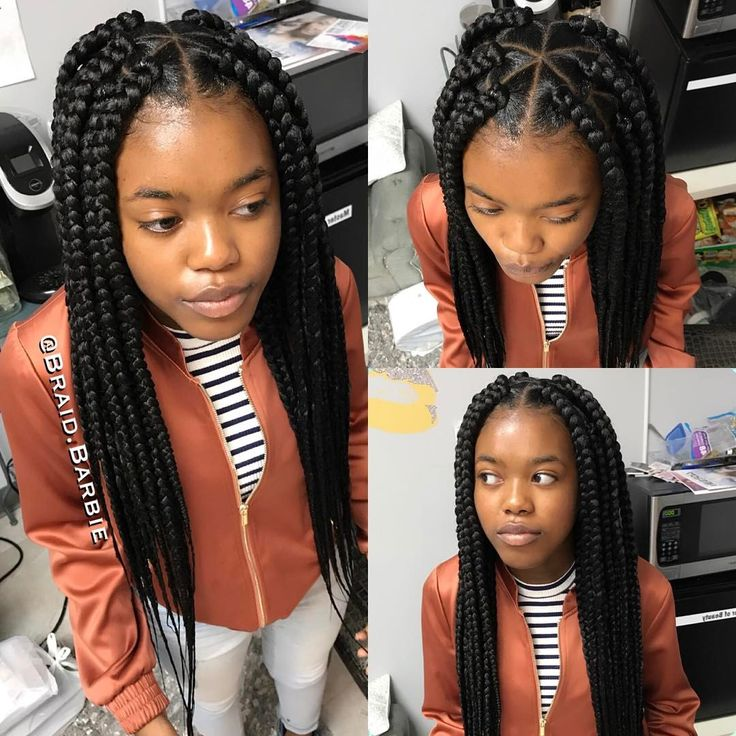 """4,043 Likes, 31 Comments - Braid BarbieFULLY BOOKED (@braid.barbie) on Instagram: """"Large Triangle Part Box Braids ✨  #KatiyahDidIt #BraidBarbieGang #Naturalhair…"""""""