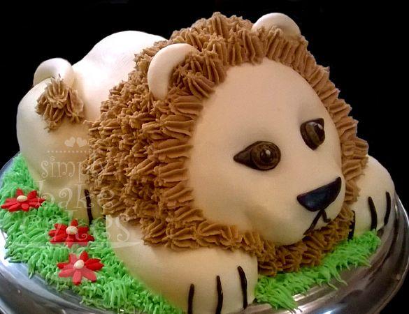 3D Lion Birthday cake  Tutorial: www.youtube.com/watch?v=VXjiqtL0gpo