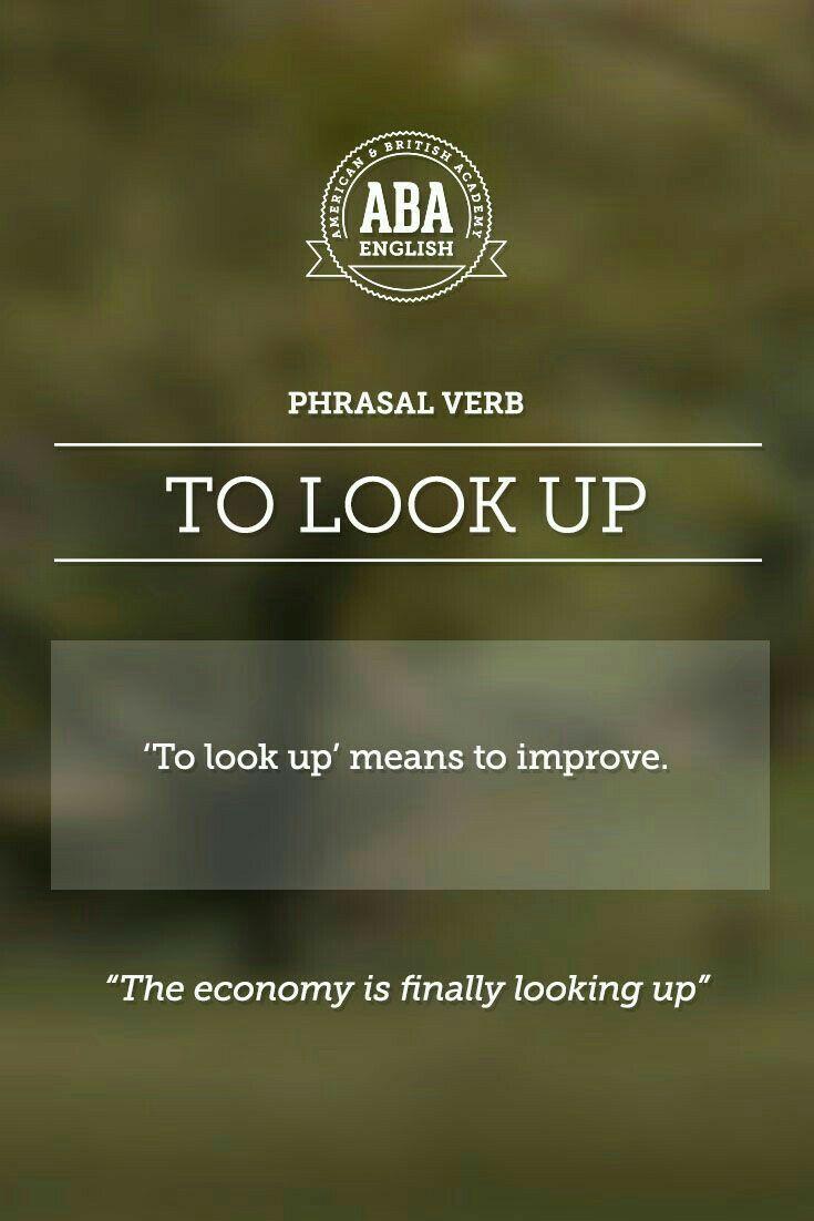 """ABA English - Phrasal Verbs """"to look up"""""""